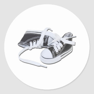LacedTennisShoes032112.png Round Sticker