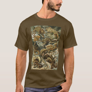 Lacertilia by Ernst Haeckel Vintage Lizard Animals T-Shirt