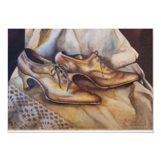 Laces and Lace Shoes 5x7 Paper Invitation Card