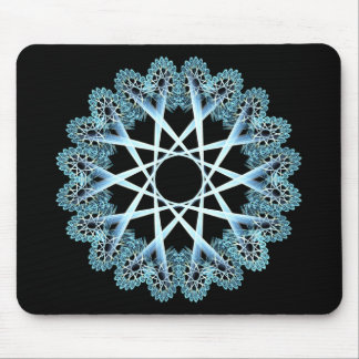 Lacework window (blue) mouse pad