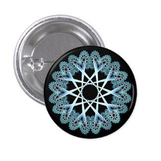 Lacework window blue pinback buttons