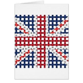Lacey British flag Greeting Card