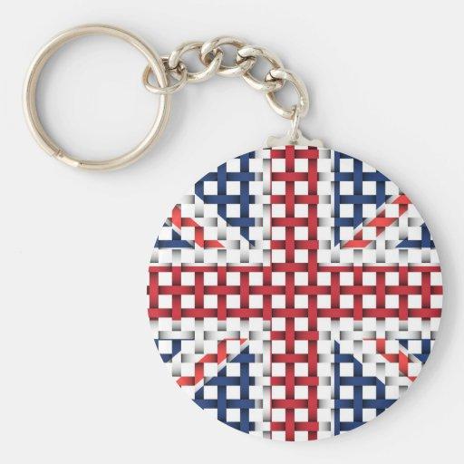 Lacey British flag Keychains
