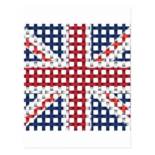 Lacey British flag Postcards