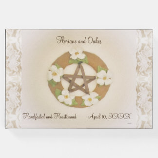 Lacey Dogwood Pentacle Handfasting Guest Book