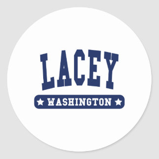 Lacey Washington College Style tee shirts Round Stickers