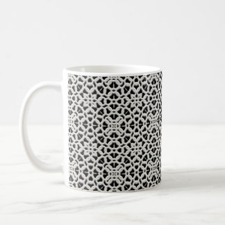 Lacey White and Black Vintage Lace Coffee Mug