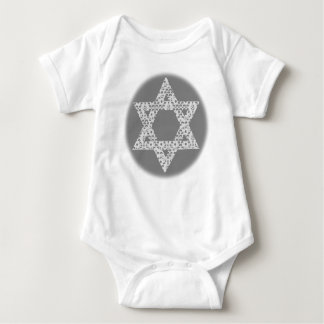 Lacey White Star of David Baby Bodysuit