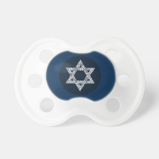 Lacey White Star of David Pacifier