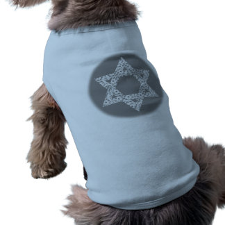 Lacey White Star of David Sleeveless Dog Shirt