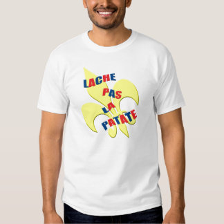 """Lache pas la patate"" (Don't give up)French Tee Shirts"