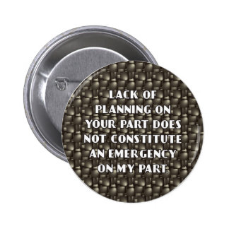 Lack of Planning Button