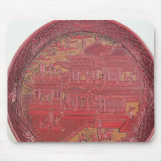 Lacquer dish, carved mouse pad