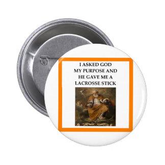 lacrosse 6 cm round badge