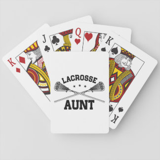 Lacrosse Aunt Playing Cards
