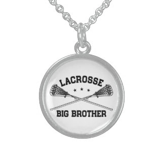 Lacrosse Big Brother Sterling Silver Necklace