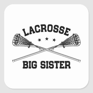 Lacrosse Big Sister Square Sticker