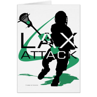 Lacrosse Boys LAX Attack Green Card