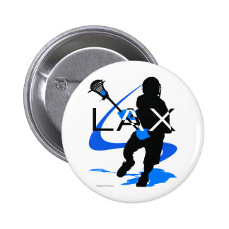Lacrosse Boys LAX Blue 6 Cm Round Badge