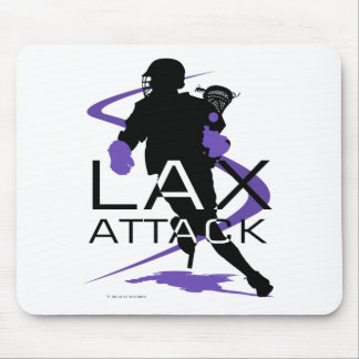 Lacrosse Boys LAX Purple Mouse Pad