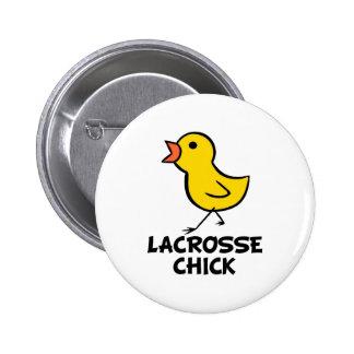 Lacrosse Chick Button