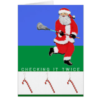 Lacrosse Christmas Card