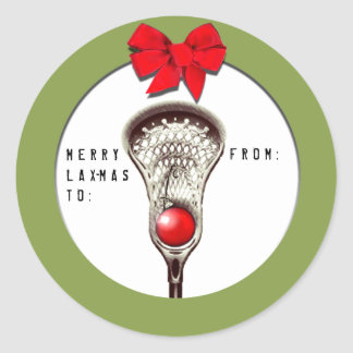 Lacrosse Christmas Classic Round Sticker