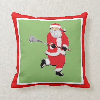 Lacrosse Christmas Cushion