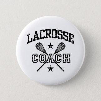 Lacrosse Coach 6 Cm Round Badge