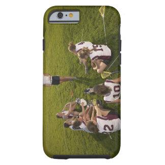 Lacrosse coach speaking to teenage (16-17) team tough iPhone 6 case