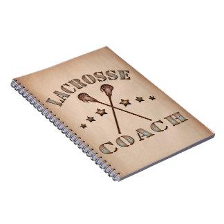 Lacrosse Coach Steampunk Style Notebook