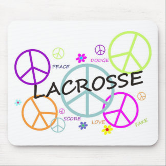 Lacrosse Colored Peace Signs Mouse Pads