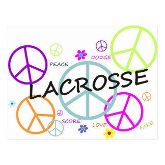 Lacrosse Colored Peace Signs Postcard