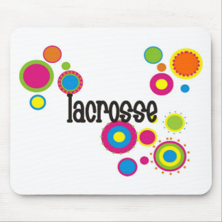 Lacrosse Cool Polka Dots Mouse Pad