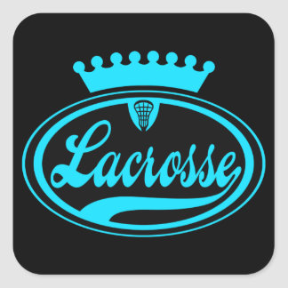 Lacrosse Crown Square Sticker