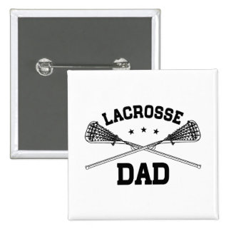 Lacrosse Dad 15 Cm Square Badge
