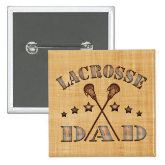 Lacrosse Dad Steampunk Style Button Pin