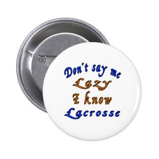 Lacrosse Designs 6 Cm Round Badge