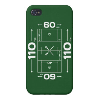Lacrosse Field Dimensions phone case iPhone 4/4S Cases