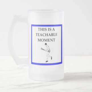 lacrosse frosted glass beer mug