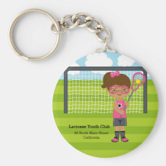 Lacrosse girl key ring