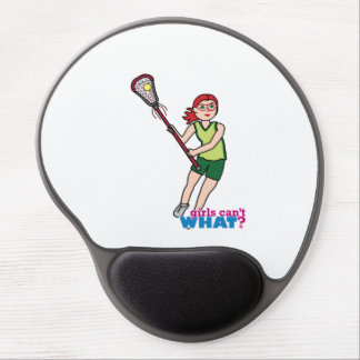 Lacrosse Girl - Light/Red Gel Mouse Pad
