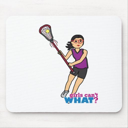 Lacrosse Girl - Medium Mouse Pads