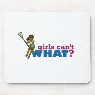 Lacrosse Girls Green Uniform Mouse Pad