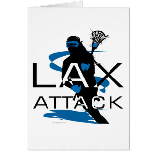 Lacrosse Girls LAX Attack Blue Card
