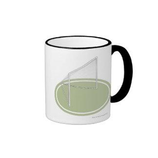 Lacrosse goal coffee mugs