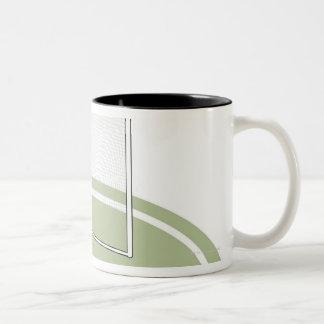 Lacrosse goal coffee mug