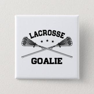 Lacrosse Goalie 15 Cm Square Badge