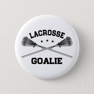 Lacrosse Goalie 6 Cm Round Badge