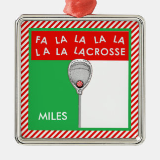 Lacrosse Goalie Collectible Metal Ornament